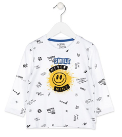 LOSAN Smile t-shirt - wit