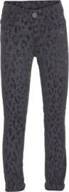 MOLO skinny broek luipaardenprint - zwart