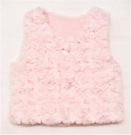 FIRST bont vest zonder mouwen - roze
