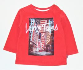 LEVI'S t-shirt met lange mouwen - rood