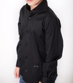 Jan van Trier overhemd - zwart