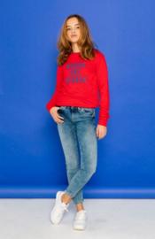 "GEISHA sweater ""WRONG DAY"" - rood"