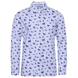 GYMP overhemd honden - wit, blauw