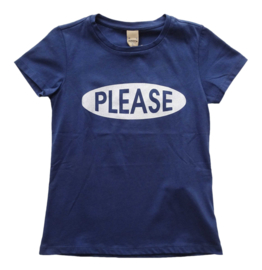 PLEASE t-shirt - blauw