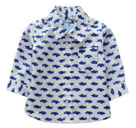 BLUE BAY overhemd met visjes