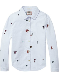SCOTCH&SODA overhemd - denim