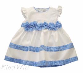 ALETTA jurk - wit, lichtblauw