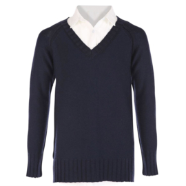 GEISHA trui + blouse - blauw