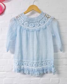 Linnen jurk - lichtblauw