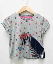 MOODSTREET t-shirt paard - grijs