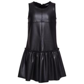 MONNALISA JAKIOO imitatieleren jurk - zwart