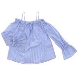 PATRIZIA PEPE blouse met strepen