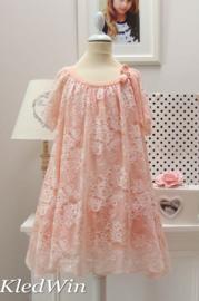 TWIN-SET SIMONA BARBIERI kanten jurk - oudroze