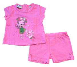 UBS2 set t-shirt + short - roze