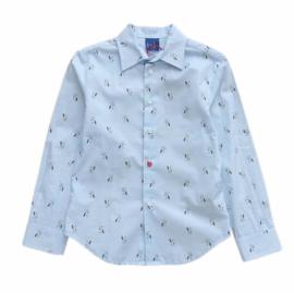 RL RED LIMIT overhemd hondjes - lichtblauw