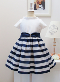 MISS LEOD communie / bruidsmeisje jurk - blauw, wit