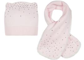 LILI GAUFRETTE muts + sjaal - roze
