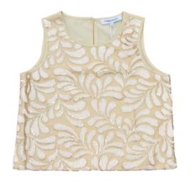 TERRE BLEUE blouse pailletten - goud