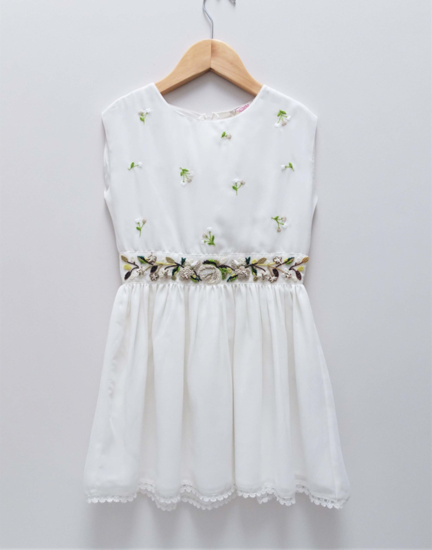 FRACOMINA jurk - ecru