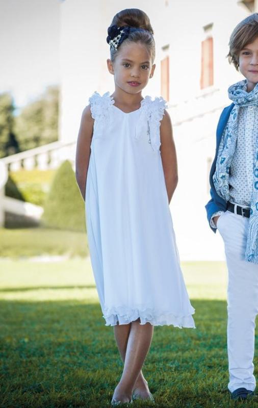 CARLO PIGNATELLI CERIMONIA communie / bruidsmeisje jurk - wit