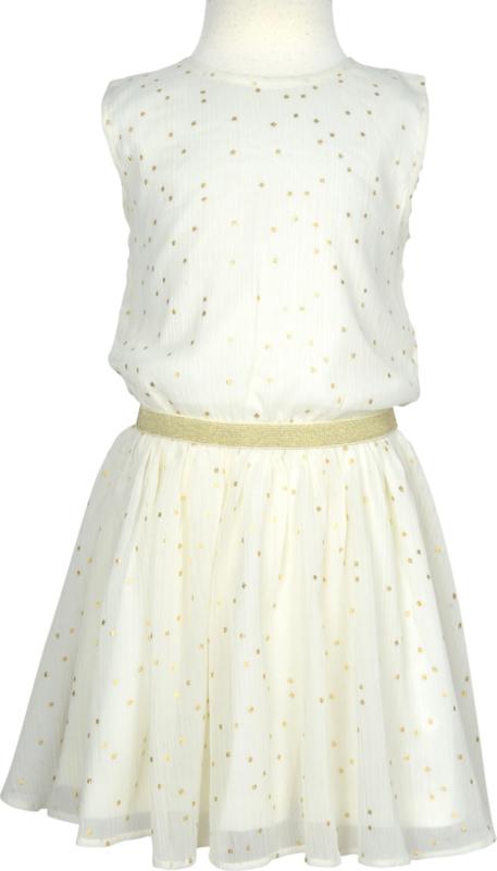 LEMON BERET jurk - ecru, goud
