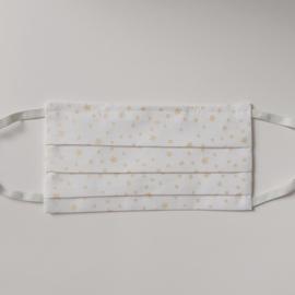 mondkapje (wit met gouden sterren)