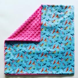 kussensloop (met kolibrie)