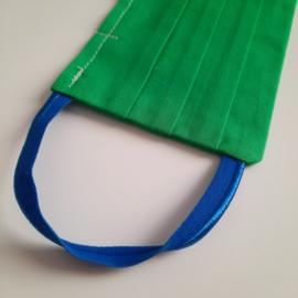 mondkapje (groen/kobalt -maat L)