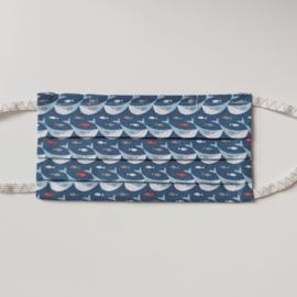 mondkapje (met walvissen- maat M/L)