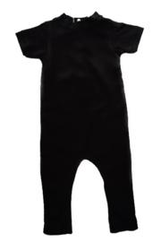 Back pocket romper black