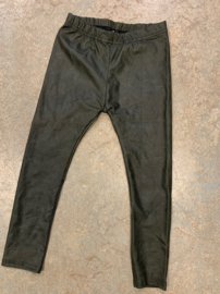 Leatherlook legging groen 98/104