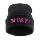 Bad hair day beanie black/pink