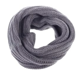 Knitted collar scarf grey