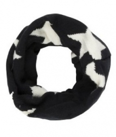 Black/white star collar scarf