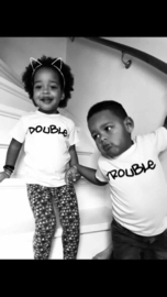 Double trouble short sleeves (black/white)