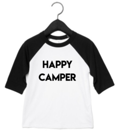 Happy camper baseball shirt