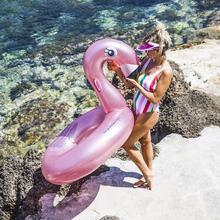 Roze zwaan zwemband groot
