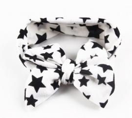 Bow star headband white