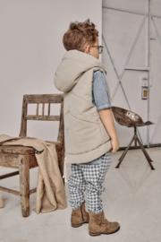 Beige nylon vest (bodywarmer)