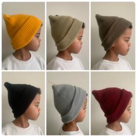 Baggy beanie knit (diverse kleuren)