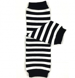 Black and white leg warmer