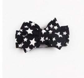 Bow star headband black