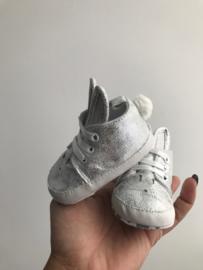 Bunny booties silver