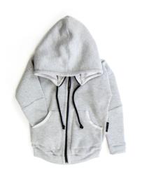 Melange silence zipper hoodie