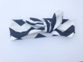 Headband black/white chevron