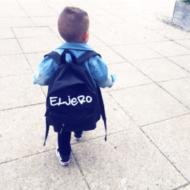 Black customized backpack - mini