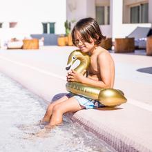 Gouden zwaan kinder zwemband