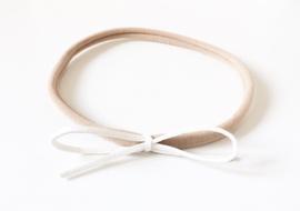 Headband nude - white