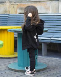 Black silence zipper hoodie