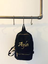 Metal zipper kids backpack sierlijk (gepersonaliseerd)
